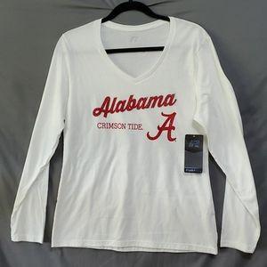 NWT Alabama  long sleeved v-neck  tshirt